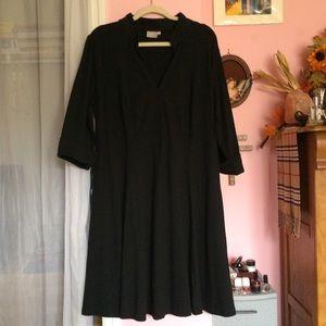 eShakti Seamed Empire Cotton Knit Dress NWOT